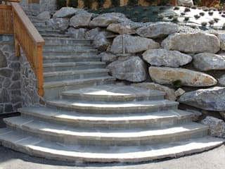 Treppen Giardino in stile rustico di Luserna Stone Rustico