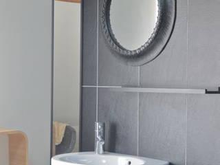 Espace douche Salle de bain minimaliste par idée ô logis Minimaliste
