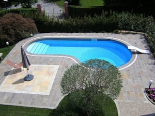 Pool: Piscina in stile  di Luserna Stone