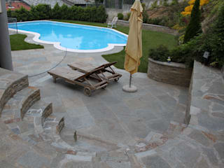 Pool Luserna Stone Piscina in stile mediterraneo