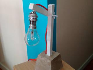 Design // Lampe bois-béton par Atelier Am Industriel
