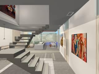 Projeto Casa Corredores, halls e escadas modernos por Studio Bonazza Moderno
