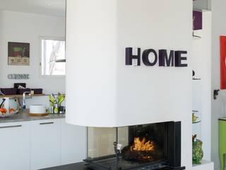 Cheminées Design par cheminées fariello Moderne