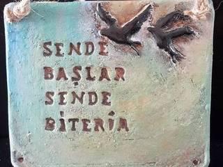 Berna Duman Seramik Atolyesi – ateşle yazı bustu: modern tarz , Modern