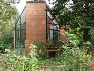 Anbau eines Wintergartens an ein Einfamiliehaus mit energetischer Gebäudesanierung Moderner Wintergarten von Architekt R-M Birkner Modern