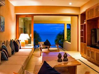 Villa Farallón 14 Salones tropicales de BR ARQUITECTOS Tropical