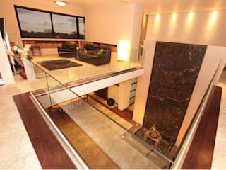 Modern corridor, hallway & stairs by AMEC ARQUITECTURA Modern
