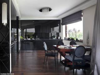 Apartament na Mokotowie inspirowany Art Deco Nowoczesna jadalnia od Pracownia Projektowa Pe2 Nowoczesny