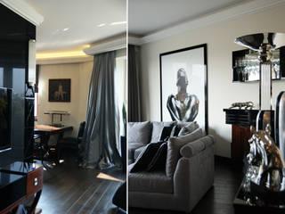 Apartament na Mokotowie inspirowany Art Deco Nowoczesny salon od Pracownia Projektowa Pe2 Nowoczesny