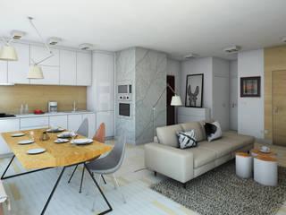 Salon scandinave par Pracownia Projektowa Pe2 Scandinave