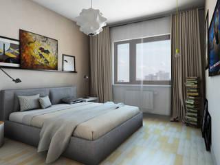 Jasne, ciepłe mieszkanie na Woli Skandynawska sypialnia od Pracownia Projektowa Pe2 Skandynawski