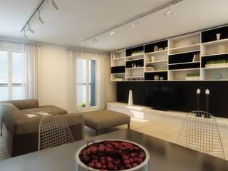 Ristrutturazione fabbricato Svizzera Pareti & Pavimenti in stile moderno di B.A.M.E. Moderno