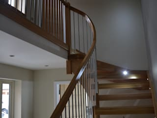 Newbold Farm. Newbold Country style corridor, hallway& stairs by Sovereign Stairs Country