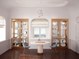 Золотая миля Столовая комната в эклектичном стиле от Line In Design Эклектичный