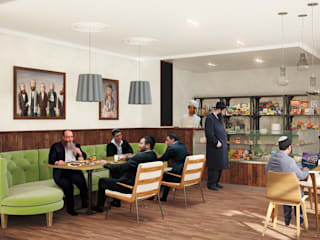 Кафе - магазин кошерных продуктов: Ресторации в . Автор – Line In Design