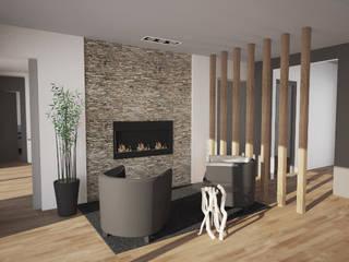 Appartement: Salon de style  par iD linea