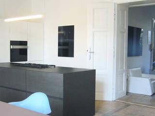 Appartment D destilat Design Studio GmbH Moderne Küchen