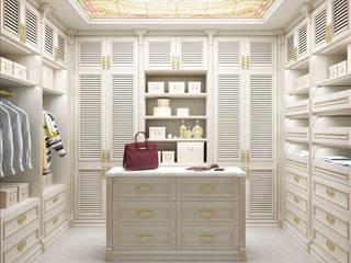 Гардероб из хозяйской спальни Гардеробная в классическом стиле от Частный дизайнер Классический