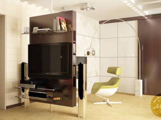 Living room by Anfilada Interior Design, Scandinavian