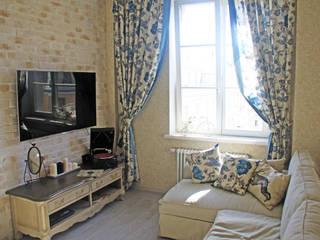 Квартира в стиле прованс Fusion Design Гостиная в средиземноморском стиле