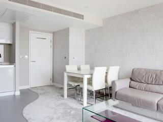 Canary Wharf Interior Design Primrose Interiors Ruang Keluarga Modern