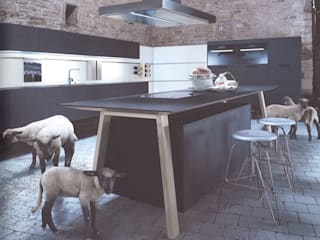 Cocinas de estilo minimalista de Eiland de Wild Keukens Minimalista