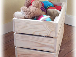 Caisses de rangement en bois de palette.:  de style  par La Fée rabote