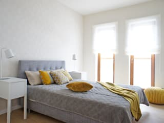 wnętrze mieszkania 68 m2 Nowoczesna sypialnia od Mootic Design Store Nowoczesny