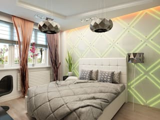Eclectic style bedroom by Anfilada Interior Design Eclectic