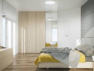 PROJEKT WNĘTRZ DOMU W WARSZAWIE: styl , w kategorii Sypialnia zaprojektowany przez Kunkiewicz Architekci