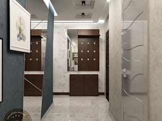 Corridor and hallway by Anfilada Interior Design, Minimalist