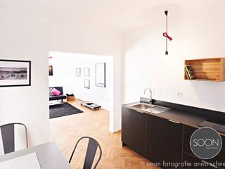 Ferienwohnung offener Koch-Essbereich:  Küche von Architekturbüro Götz Oertel
