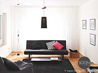 Salones minimalistas de Architekturbüro Götz Oertel Minimalista