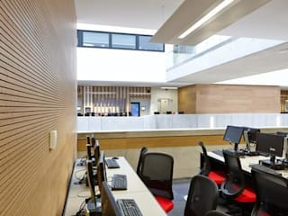 Techos y revestimientos acústicos en madera SPIGOGROUP Estudios y despachos de estilo moderno