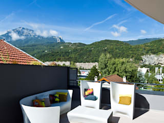 Appartement carte blanche Balcon, Veranda & Terrasse modernes par Anne-Maud & Natacha Moderne