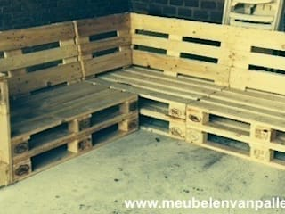 Pallet bank schuine leuning for Meubel outlet lelystad