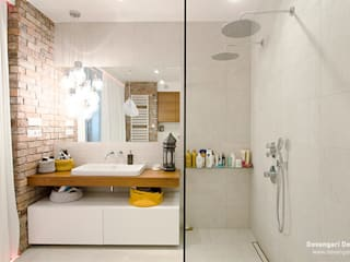 Mieszkanie Wilanów Skandynawska łazienka od Devangari Design Skandynawski