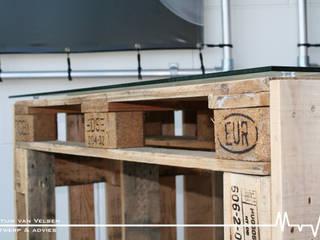 Bureau van pallets 80cmx124cm:   door Meubelen van pallets