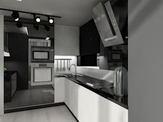 Черно-белая квартира: Кухни в . Автор – Design&Interior Krasilnikova