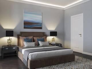 Квартира на Ломоносовском проспекте Спальня в эклектичном стиле от Tina Gurevich Эклектичный