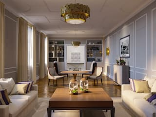 Ruang Keluarga Gaya Eklektik Oleh Prosperity Eklektik