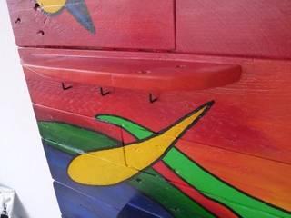 Garderobe - Upcycling - Palettenholz:   von Design Art Solar Ruhrgebiet