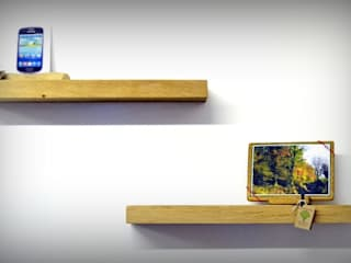 Chunky Solid Oak Floating Shelves de Something Wood Rústico