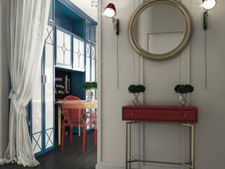 Couloir, entrée, escaliers originaux par Частный дизайнер и декоратор Девятайкина Софья Éclectique