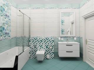 現代浴室設計點子、靈感&圖片 根據 Гурьянова Наталья 現代風