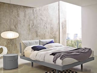 'Gemo' bed with headboard by Veneran par My Italian Living Moderne