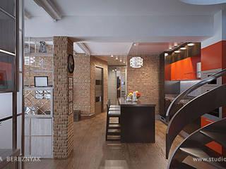 Яркий лофт для молодой семьи: Гостиная в . Автор – Дизайнер/Декоратор интерьера