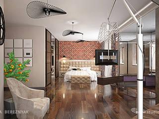Просторные лофт апартаменты: Спальни в . Автор – Дизайнер/Декоратор интерьера