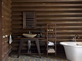 Casas de banho rústicas por Lavka-design дизайн бюро Rústico