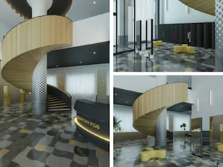 """Дизайн-концепция ресторана """"Gorchitsa"""" в центре Новосибирска от Architectural Bureau DAOFORM Модерн"""